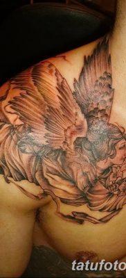 фото тату ангел с крыльями от 07.03.2018 №078 – angel tattoo with wings – tatufoto.com