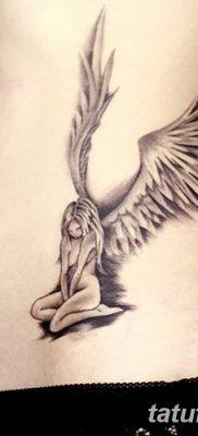 фото тату ангел с крыльями от 07.03.2018 №079 – angel tattoo with wings – tatufoto.com