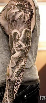 фото тату ангел с крыльями от 07.03.2018 №082 – angel tattoo with wings – tatufoto.com