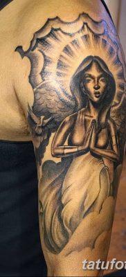 фото тату ангел с крыльями от 07.03.2018 №090 – angel tattoo with wings – tatufoto.com