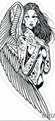 фото тату ангел с крыльями от 07.03.2018 №094 – angel tattoo with wings – tatufoto.com