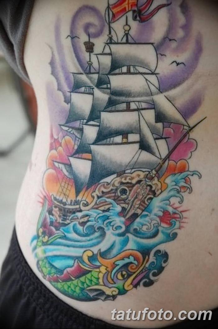 фото тату море от 27.03.2018 №001 - tattoo sea - tatufoto.com