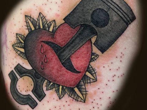 фото тату поршень от 02.03.2018 №037 - tattoo piston - tatufoto.com