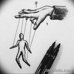 фото эскизы тату кукловод от 23.03.2018 №033 - sketches tattoo puppeteer - tatufoto.com