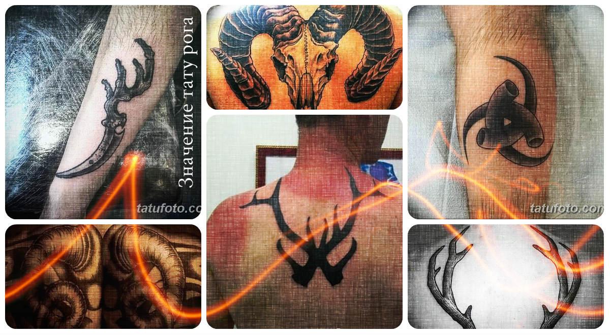 Значение тату рога - фото примеры оригинальных рисунков готовых тату