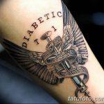 фото Медицинские тату от 22.04.2018 №013 - Medical Tattoo - tatufoto.com
