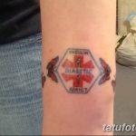 фото Медицинские тату от 22.04.2018 №065 - Medical Tattoo - tatufoto.com