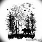 фото Эскизы тату ель от 23.04.2018 №003 - Sketches of a tattoo spruce - tatufoto.com