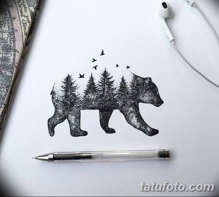 фото Эскизы тату ель от 23.04.2018 №005 - Sketches of a tattoo spruce - tatufoto.com