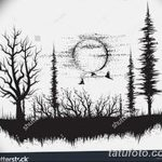 фото Эскизы тату ель от 23.04.2018 №015 - Sketches of a tattoo spruce - tatufoto.com