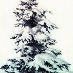 фото Эскизы тату ель от 23.04.2018 №019 - Sketches of a tattoo spruce - tatufoto.com