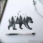 фото Эскизы тату ель от 23.04.2018 №027 - Sketches of a tattoo spruce - tatufoto.com
