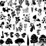 фото Эскизы тату ель от 23.04.2018 №036 - Sketches of a tattoo spruce - tatufoto.com