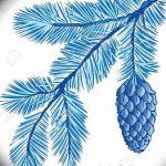фото Эскизы тату ель от 23.04.2018 №040 - Sketches of a tattoo spruce - tatufoto.com