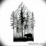 фото Эскизы тату ель от 23.04.2018 №051 - Sketches of a tattoo spruce - tatufoto.com