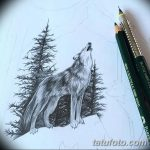 фото Эскизы тату ель от 23.04.2018 №053 - Sketches of a tattoo spruce - tatufoto.com