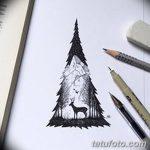фото Эскизы тату ель от 23.04.2018 №060 - Sketches of a tattoo spruce - tatufoto.com