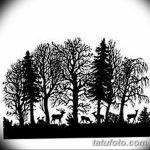 фото Эскизы тату ель от 23.04.2018 №063 - Sketches of a tattoo spruce - tatufoto.com