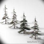 фото Эскизы тату ель от 23.04.2018 №070 - Sketches of a tattoo spruce - tatufoto.com