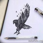 фото Эскизы тату ель от 23.04.2018 №071 - Sketches of a tattoo spruce - tatufoto.com
