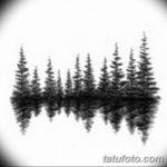 фото Эскизы тату ель от 23.04.2018 №075 - Sketches of a tattoo spruce - tatufoto.com