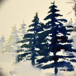 фото Эскизы тату ель от 23.04.2018 №088 - Sketches of a tattoo spruce - tatufoto.com