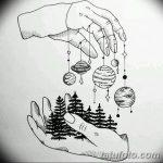 фото Эскизы тату ель от 23.04.2018 №091 - Sketches of a tattoo spruce - tatufoto.com