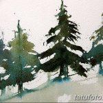 фото Эскизы тату ель от 23.04.2018 №093 - Sketches of a tattoo spruce - tatufoto.com