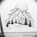 фото Эскизы тату ель от 23.04.2018 №094 - Sketches of a tattoo spruce - tatufoto.com