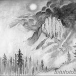 фото Эскизы тату ель от 23.04.2018 №108 - Sketches of a tattoo spruce - tatufoto.com
