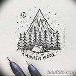 фото Эскизы тату ель от 23.04.2018 №113 - Sketches of a tattoo spruce - tatufoto.com