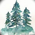 фото Эскизы тату ель от 23.04.2018 №135 - Sketches of a tattoo spruce - tatufoto.com