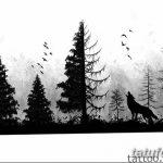 фото Эскизы тату ель от 23.04.2018 №140 - Sketches of a tattoo spruce - tatufoto.com