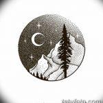 фото Эскизы тату ель от 23.04.2018 №141 - Sketches of a tattoo spruce - tatufoto.com