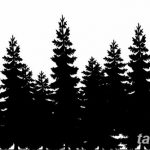 фото Эскизы тату ель от 23.04.2018 №152 - Sketches of a tattoo spruce - tatufoto.com