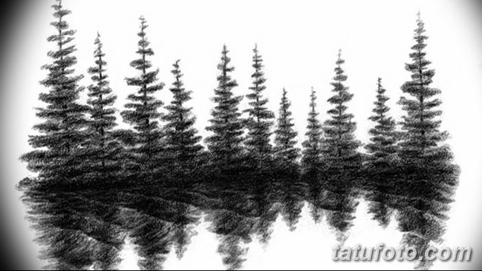 фото Эскизы тату ель от 23.04.2018 №154 - Sketches of a tattoo spruce - tatufoto.com 346345345 345345