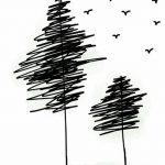 фото Эскизы тату ель от 23.04.2018 №157 - Sketches of a tattoo spruce - tatufoto.com