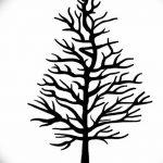 фото Эскизы тату ель от 23.04.2018 №158 - Sketches of a tattoo spruce - tatufoto.com