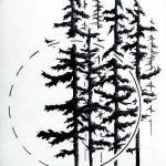 фото Эскизы тату ель от 23.04.2018 №163 - Sketches of a tattoo spruce - tatufoto.com