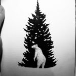 фото Эскизы тату ель от 23.04.2018 №164 - Sketches of a tattoo spruce - tatufoto.com