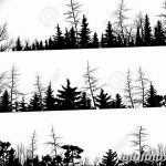 фото Эскизы тату ель от 23.04.2018 №167 - Sketches of a tattoo spruce - tatufoto.com