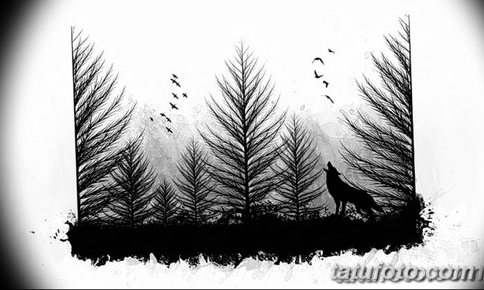 фото Эскизы тату ель от 23.04.2018 №170 - Sketches of a tattoo spruce - tatufoto.com