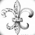 фото Эскизы тату королевская лилия от 24.04.2018 №003 - royal lily tattoo - tatufoto.com
