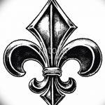 фото Эскизы тату королевская лилия от 24.04.2018 №004 - royal lily tattoo - tatufoto.com