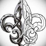 фото Эскизы тату королевская лилия от 24.04.2018 №009 - royal lily tattoo - tatufoto.com