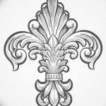 фото Эскизы тату королевская лилия от 24.04.2018 №015 - royal lily tattoo - tatufoto.com