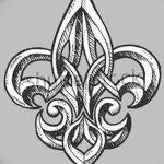 фото Эскизы тату королевская лилия от 24.04.2018 №027 - royal lily tattoo - tatufoto.com