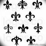 фото Эскизы тату королевская лилия от 24.04.2018 №029 - royal lily tattoo - tatufoto.com
