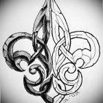 фото Эскизы тату королевская лилия от 24.04.2018 №030 - royal lily tattoo - tatufoto.com