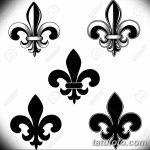 фото Эскизы тату королевская лилия от 24.04.2018 №039 - royal lily tattoo - tatufoto.com 1845 14